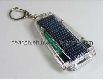 Solar Keychain with LED Light